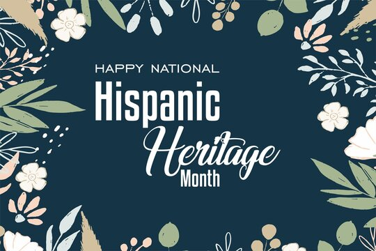 National Hispanic Heritage Month. Holiday concept. Template for background, Web banner, card, poster, t-shirt with text inscription
