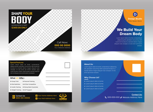 Modern, Creative And Professional Corporate Postcard Layout Design For Your Business And Printing