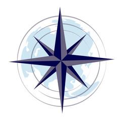 Fototapeta abstract, adventure, arrow, asia, asia europe, australia, cartography, compass, compass rose, concept, cursor, direction, discovery, earth, east, equipment, europe, flat, geography, global, globe, gra obraz