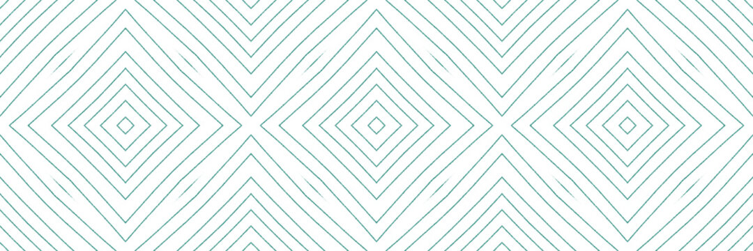 Geometric seamless pattern. Turquoise