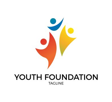 youth foundation icon design vector template