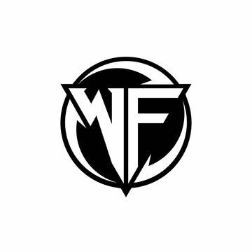 WF logo monogram design template
