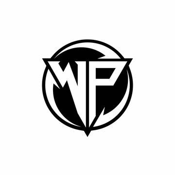 WP logo monogram design template