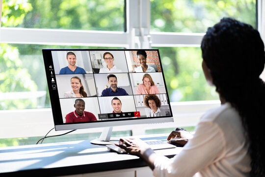 Online Video Conference Webinar Remote Call