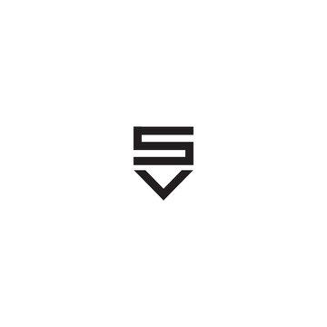 modern new sv letter logo design