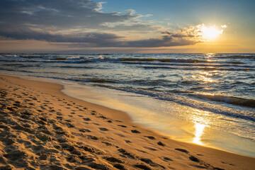 Obraz Sunset over the  Baltic Sea - fototapety do salonu