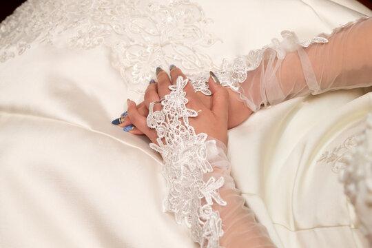 A nervous bride preparing for a wedding