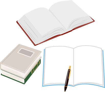 開いたノートと辞書