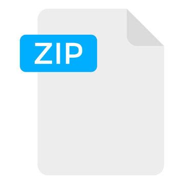 A creative design icon of zip file