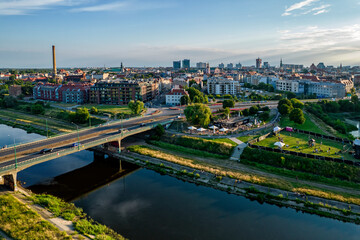 Fototapeta Poznań- panorama miasta. obraz