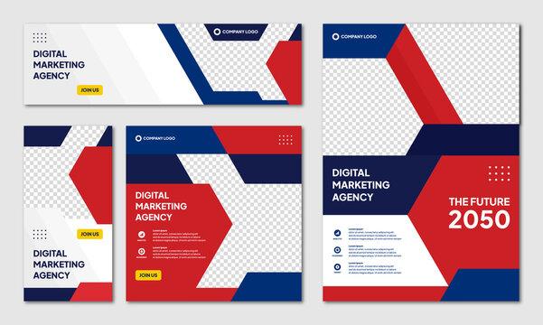 modern creative corporate brochure design background template and social media post banner instagram story vector illustration