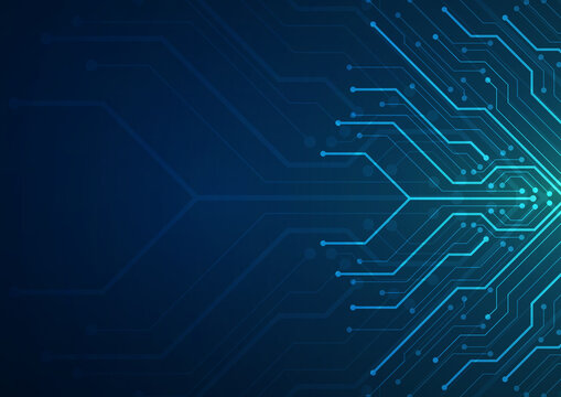 Technology circuit board background design. Communication concept.