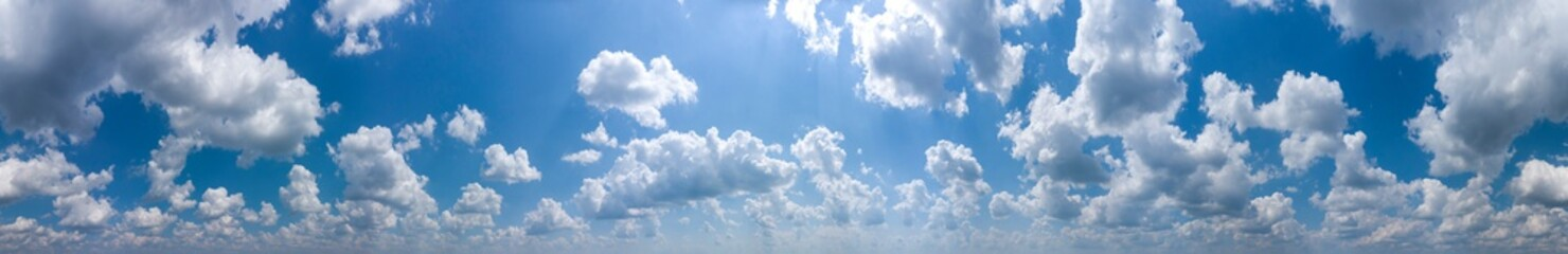 Fototapeta Panorama of blue sky with white clouds obraz