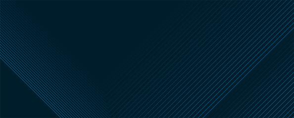 Fototapeta Dark blue lines technology futuristic background. Minimal vector banner design obraz
