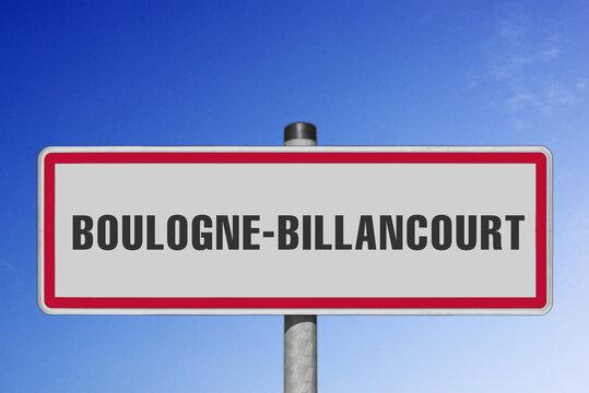 Boulogne-Billancourt, panneau, (symbolique)