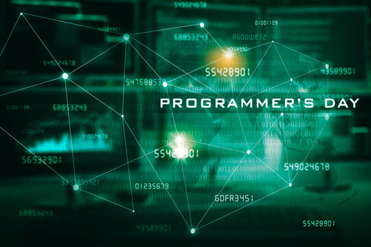 International Programmers day text in cyberspace