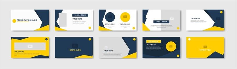 Fototapeta Business presentation template design. Minimalis, modern and keynote vector illustration obraz