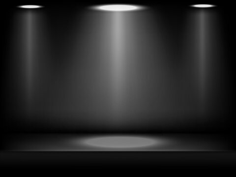 Studio background black in abstract style on dark background.