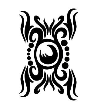 Tattoo tribal pattern graphic design vector art
