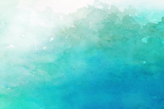 森をイメージした水彩背景イラスト
