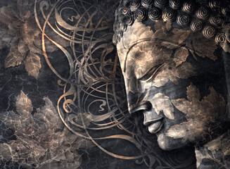 Fototapeta Head Smiling Buddha obraz
