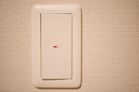 蛍ランプ付きのスイッチ