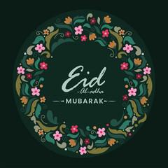 Obraz Islamic festival of sacrifice Eid-Ul-Adha Mubarak concept with floral pattern background. - fototapety do salonu