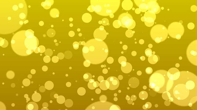 abstract bokeh background, yellow particles