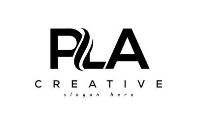 Fototapeta Letter PLA creative logo design vector obraz