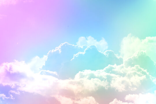 Background with gradient sky in evening clouds