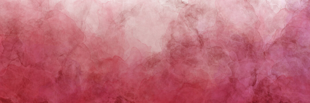 Red and pink watercolor background with marbled grunge texture and color splash design, marble painted watercolor blotches in distressed faded illustration