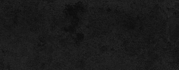 Fototapeta Panorama of Dark grey black slate background or texture. Black granite slabs background obraz