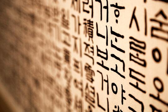 한국 언어인 한글