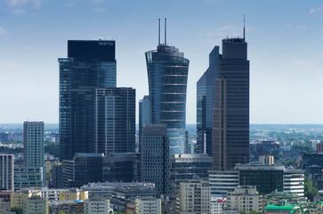 Fototapeta Warsaw - City center obraz