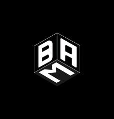 Fototapeta This is a cube letter logo design. obraz