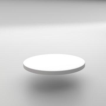 PODIUM BLANC 3D - Présentoir produit