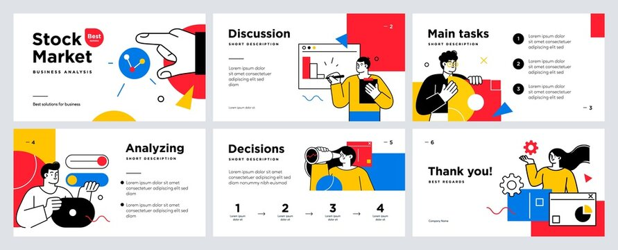 Presentation and slide layout background. Design template with business people. Use for business annual report, flyer, marketing, leaflet, advertising, brochure, modern style. Vector