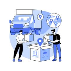 Obraz Transit warehouse abstract concept vector illustration. - fototapety do salonu