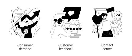 Obraz Customer relationship management abstract concept vector illustrations. - fototapety do salonu