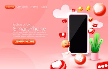 Fototapeta Social photo frame, followers media banner, network message icons. Vector obraz