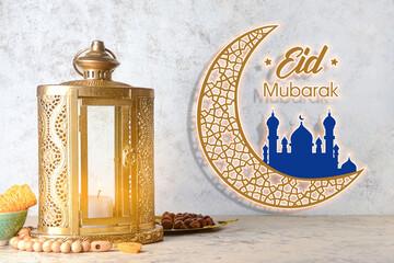 Obraz Greeting card for Eid al-Adha (Feast of the Sacrifice) - fototapety do salonu