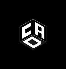 Fototapeta This is a Cube letter logo design on black background. obraz