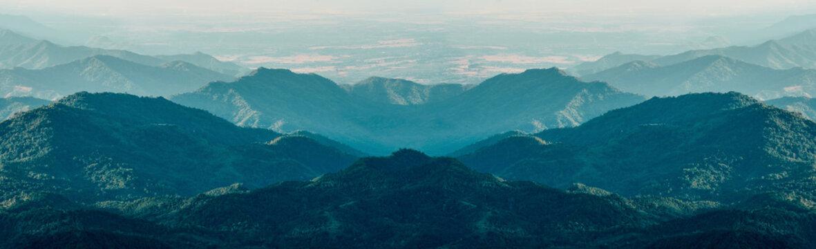 Mountain landscape vast nature, outdoor nature forest landscape.