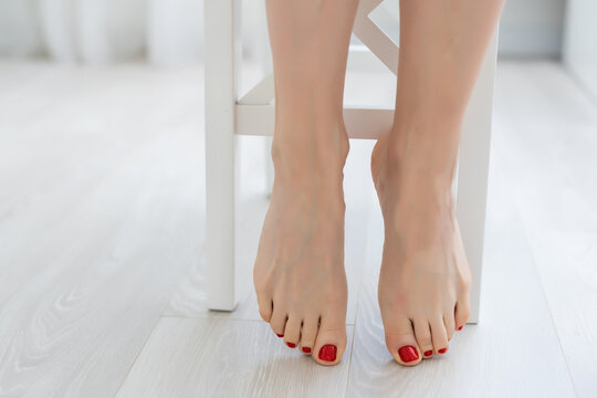 Close up of a perfect female legs.