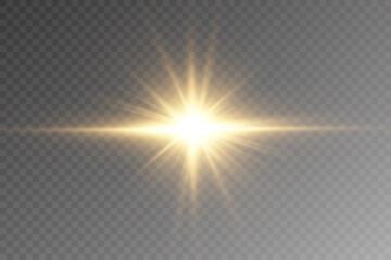 Fototapeta Vector transparent sunlight special lens flare light effect. PNG. Vector illustration . obraz