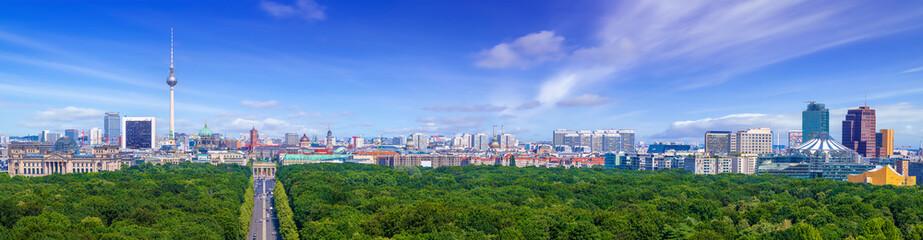 Fototapeta panoramic view at the city center of berlin obraz