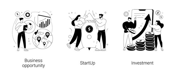 Obraz Entrepreneurship abstract concept vector illustrations. - fototapety do salonu