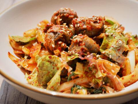 한국음식, 골뱅이 채소무침 ( Whelk and vegetable mix )