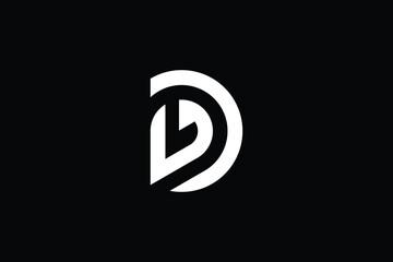 Fototapeta DL logo letter design on luxury background. LD logo monogram initials letter concept. DL icon logo design. LD elegant and Professional letter icon design on black background. D L LD DL obraz