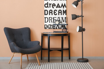 Fototapeta Interior of stylish living room obraz